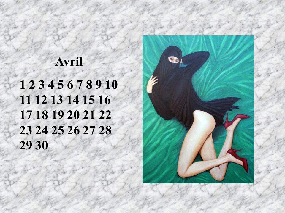 Avril 1 2 3 4 5 6 7 8 9 10 11 12 13 14 15 16 17 18 19 20 21 22 23 24 25 26 27 28 29 30. LE 1er/ anniversaire de mariage RT.