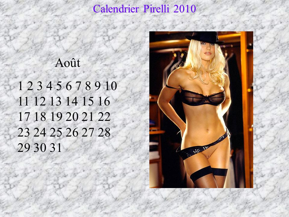 Calendrier Pirelli 2010 Août.