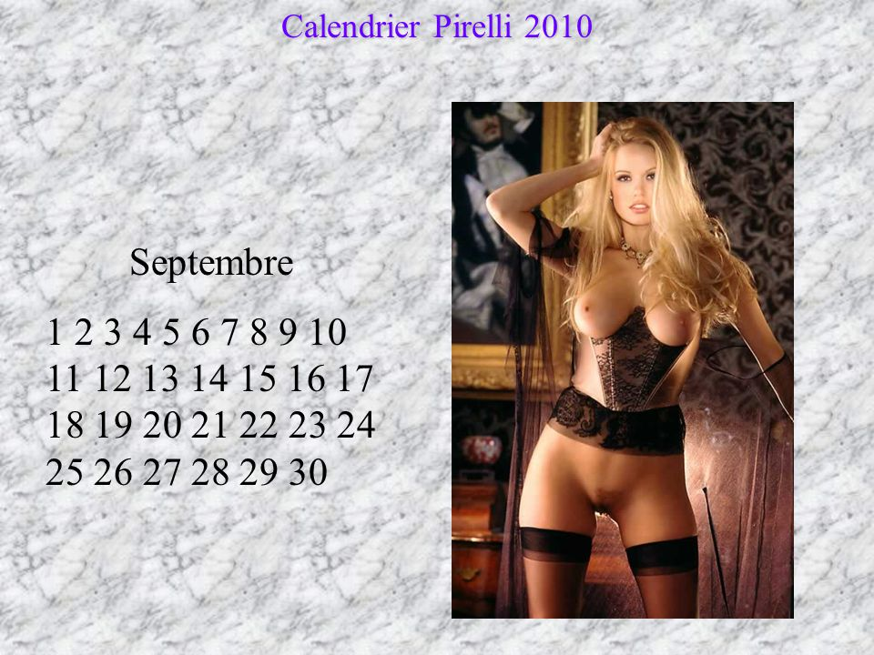 Calendrier Pirelli 2010 Septembre.