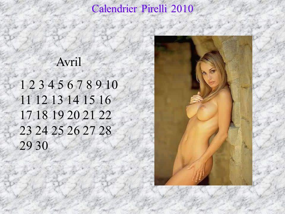 Calendrier Pirelli 2010 Avril.