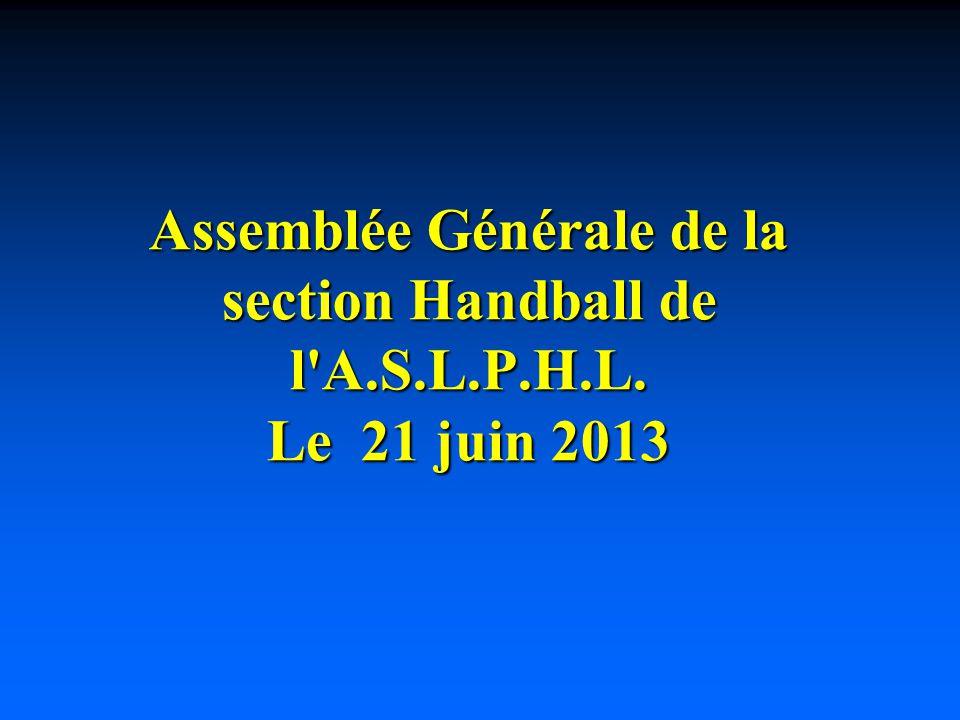 Assemblée Générale de la section Handball de l A. S. L. P. H. L