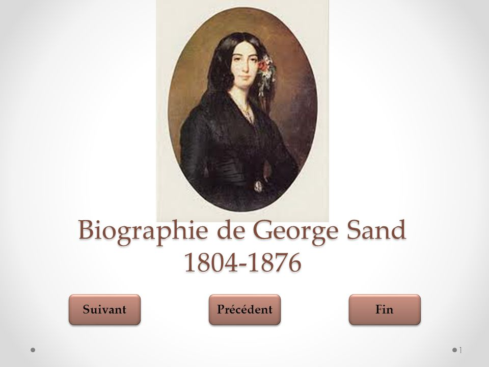 Biographie de George Sand 1804-1876