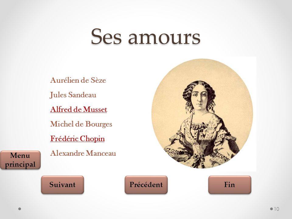 Ses amours Aurélien de Sèze Jules Sandeau Alfred de Musset