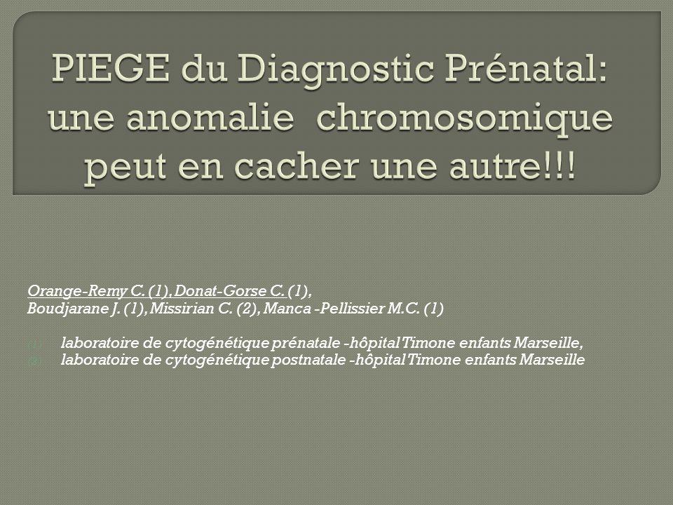 PIEGE du Diagnostic Prénatal: une anomalie chromosomique peut en cacher une autre!!!