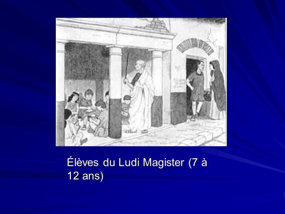 Élèves du Ludi Magister (7 à 12 ans)