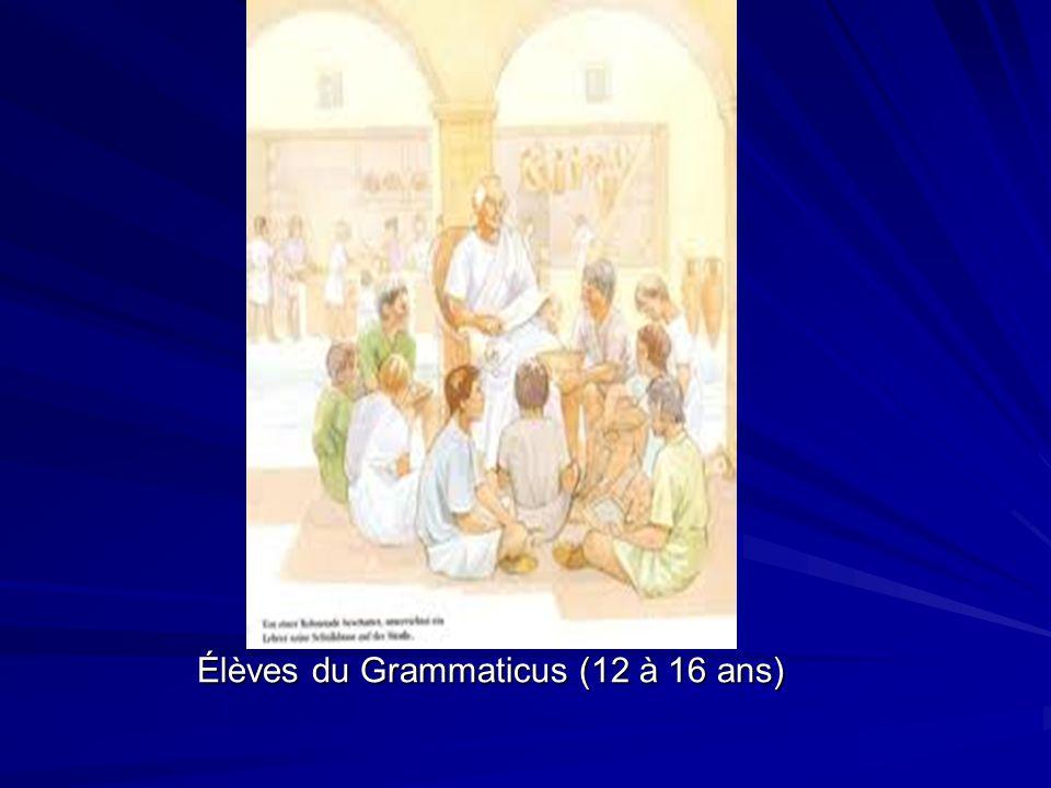 Élèves du Grammaticus (12 à 16 ans)