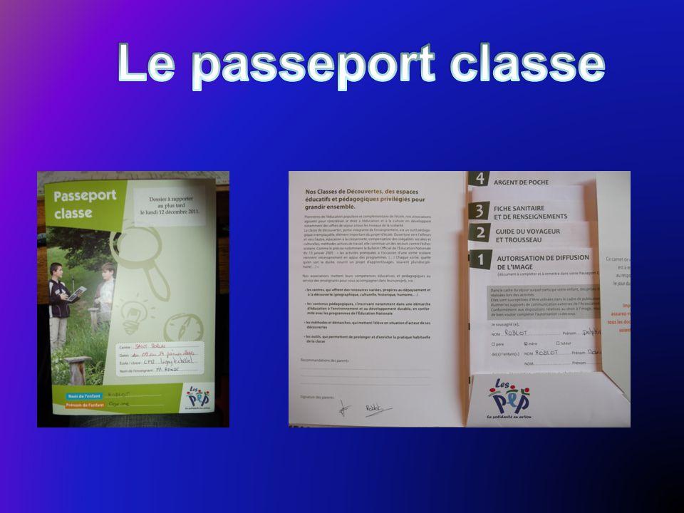 Le passeport classe
