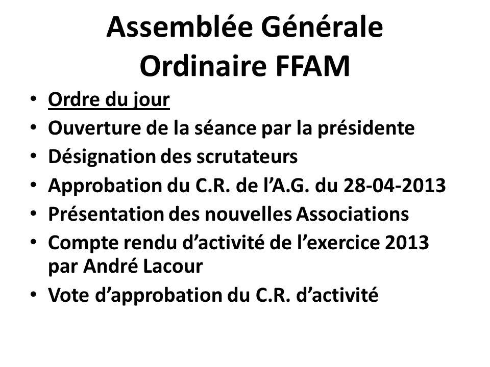 Assemblée Générale Ordinaire FFAM