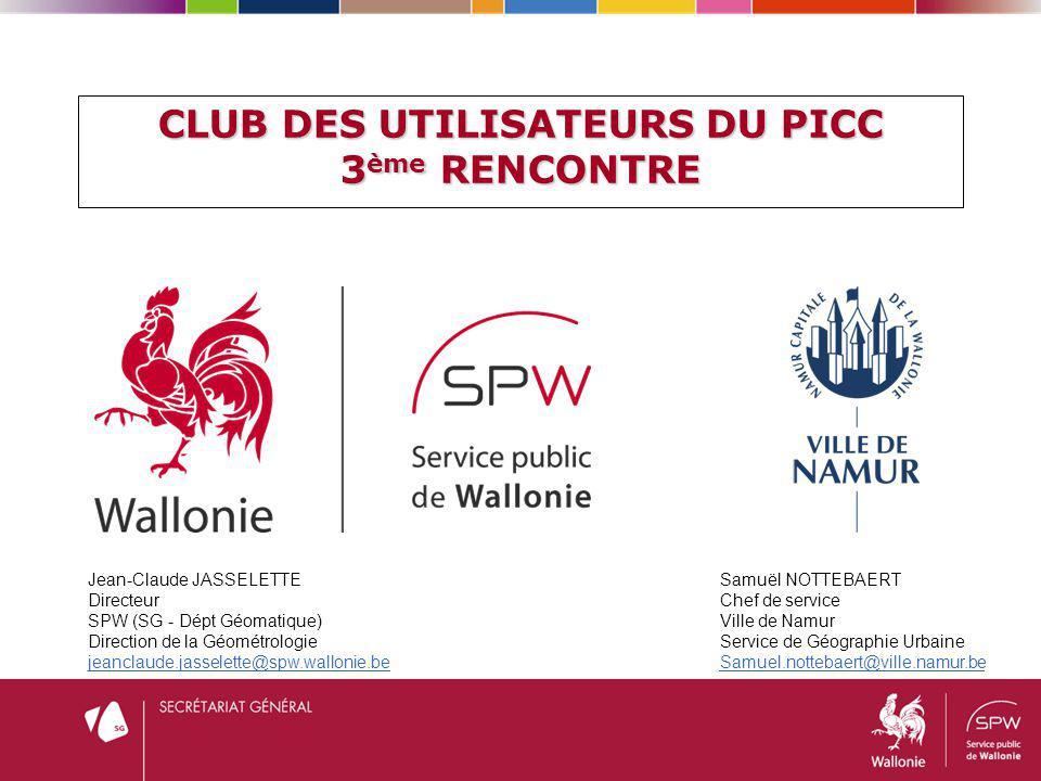 CLUB DES UTILISATEURS DU PICC 3ème RENCONTRE