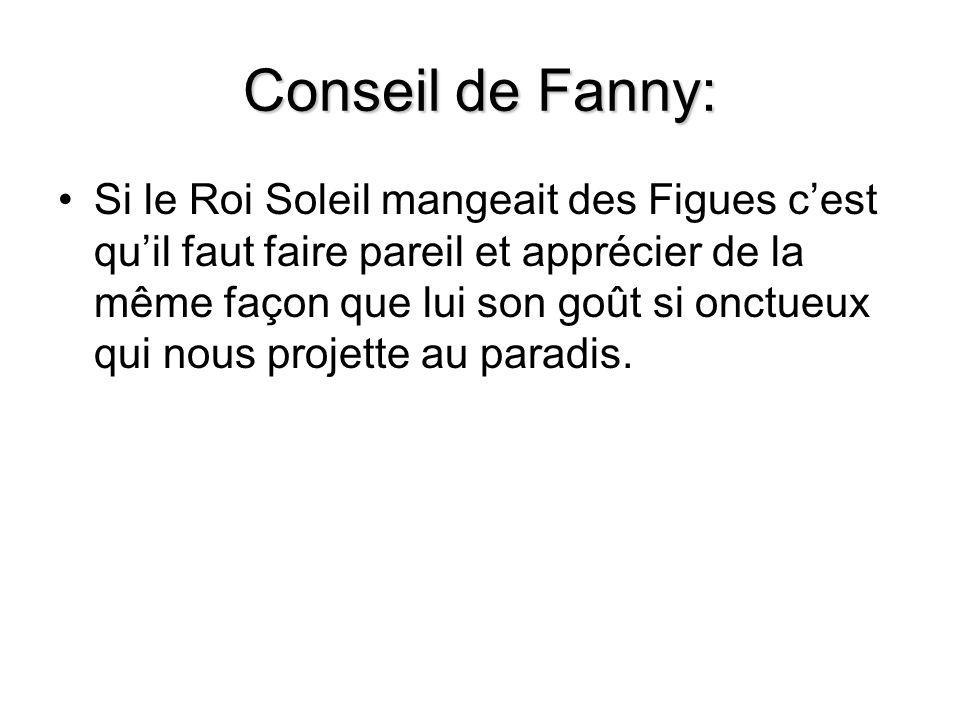 Conseil de Fanny: