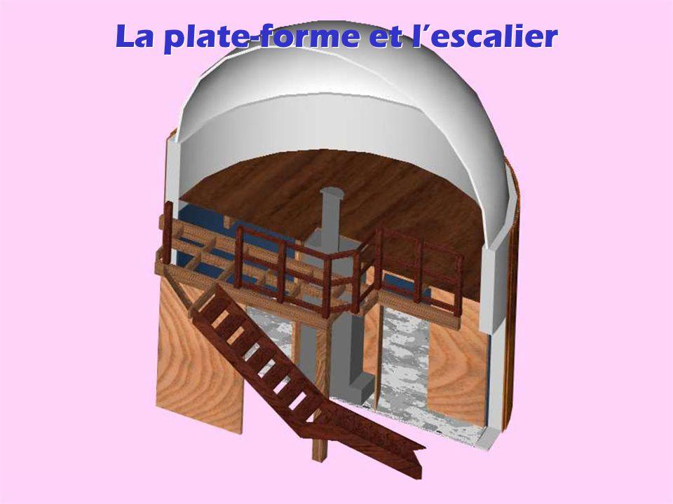 La plate-forme et l'escalier