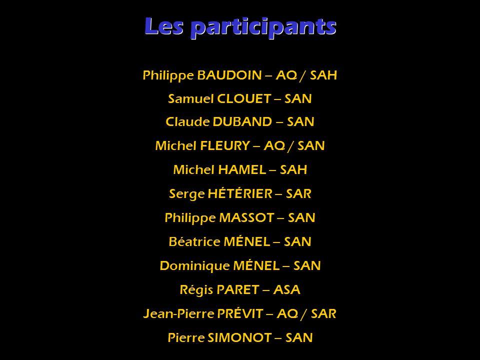 Les participants Philippe BAUDOIN – AQ / SAH Samuel CLOUET – SAN