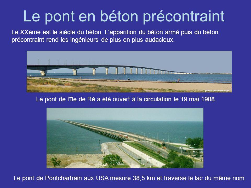 Le pont en béton précontraint