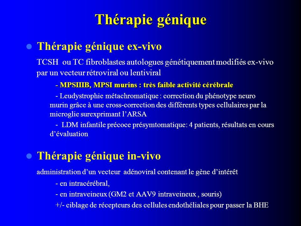 Thérapie génique Thérapie génique ex-vivo Thérapie génique in-vivo