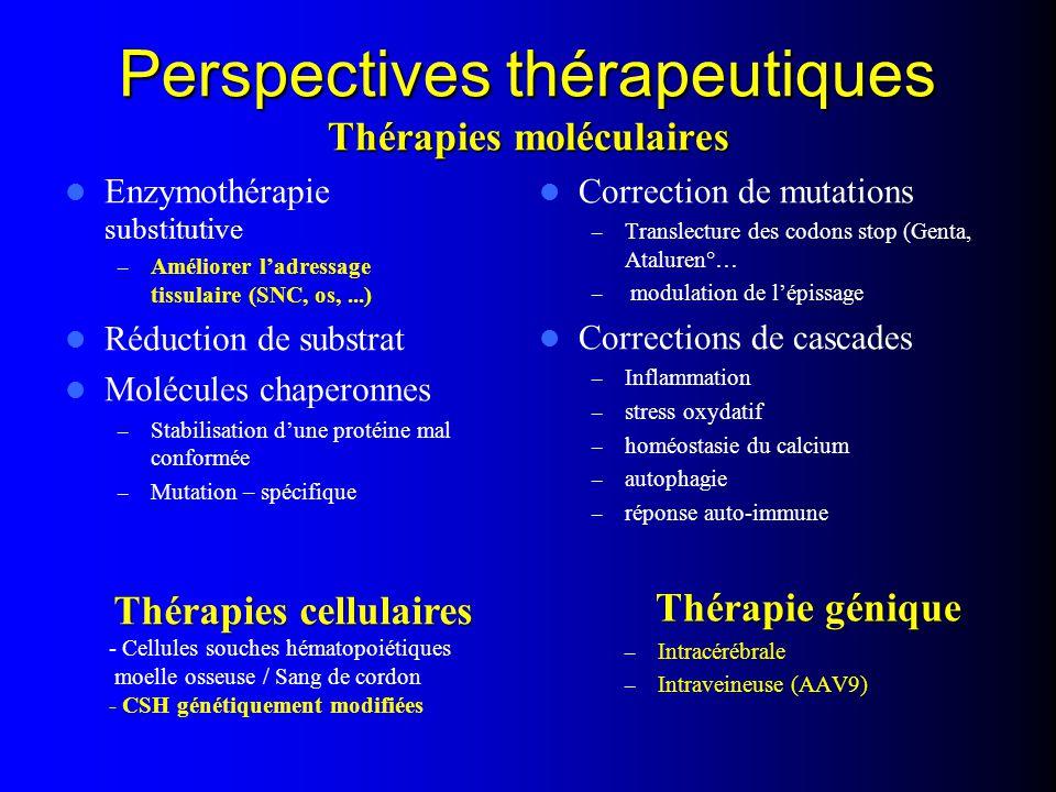 Perspectives thérapeutiques Thérapies moléculaires
