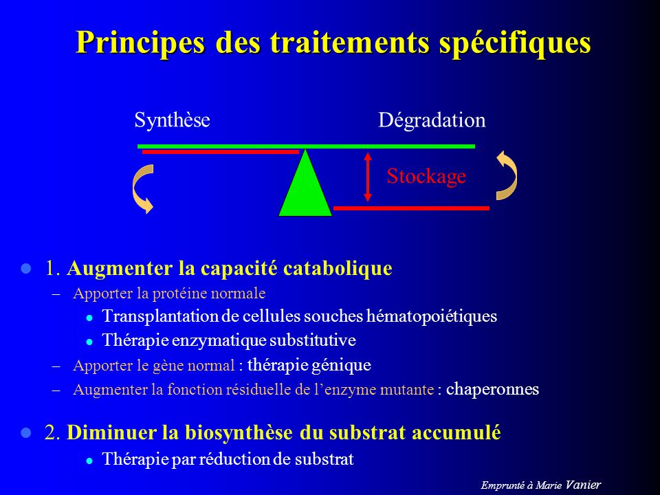 Principes des traitements spécifiques