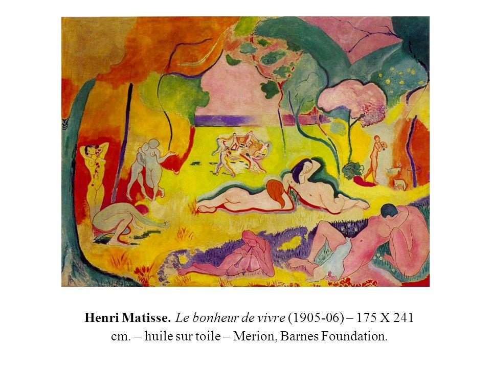 Henri Matisse. Le bonheur de vivre (1905-06) – 175 X 241 cm