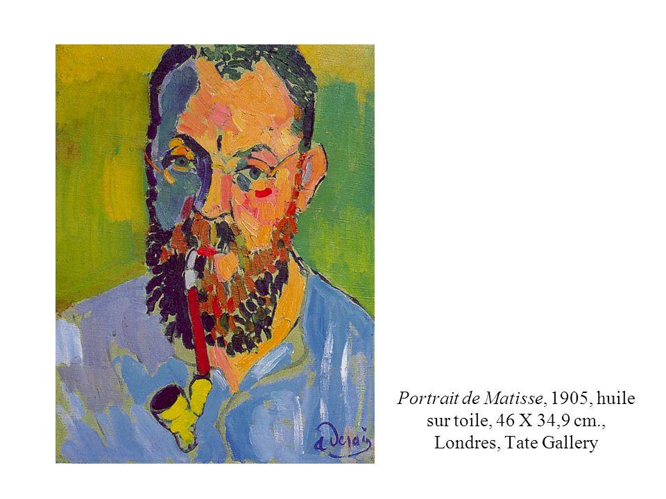 Portrait de Matisse, 1905, huile sur toile, 46 X 34,9 cm