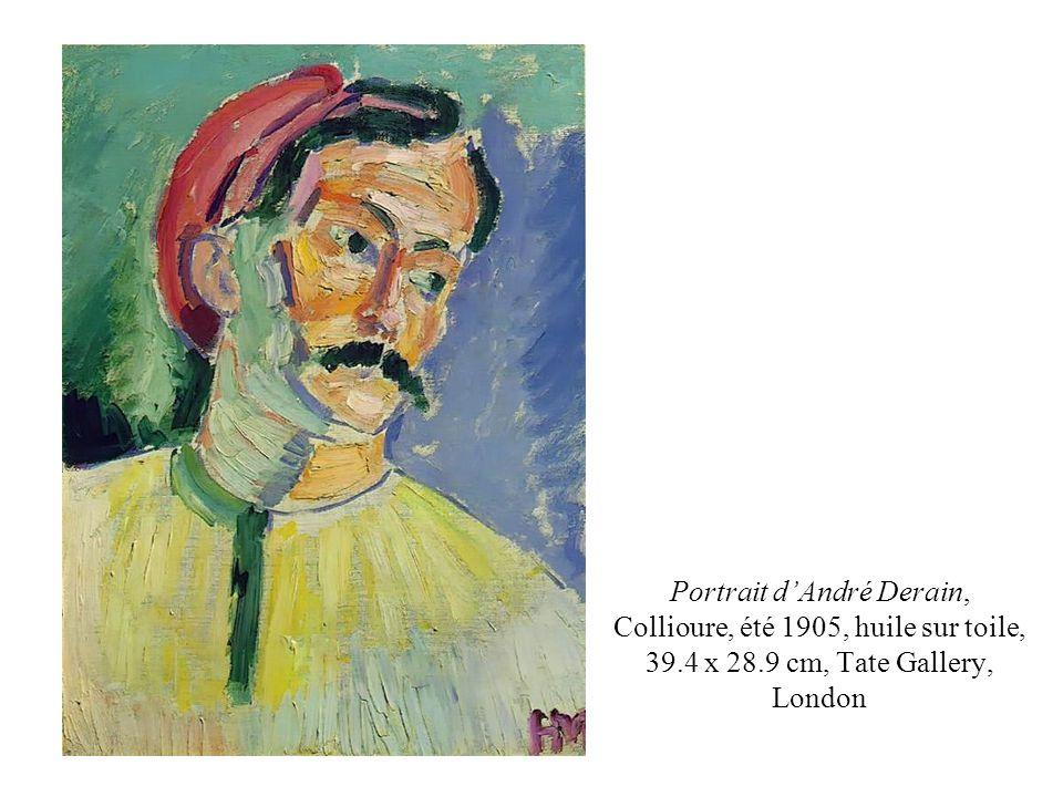 Portrait d'André Derain, Collioure, été 1905, huile sur toile, 39