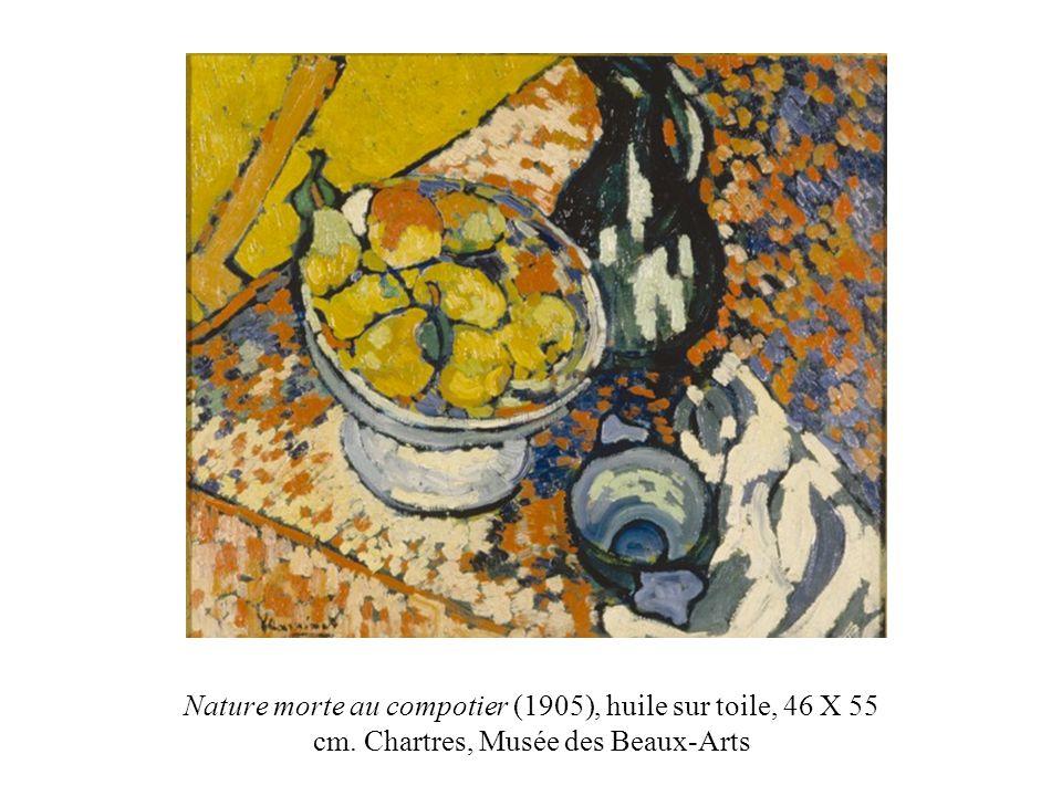 Nature morte au compotier (1905), huile sur toile, 46 X 55 cm
