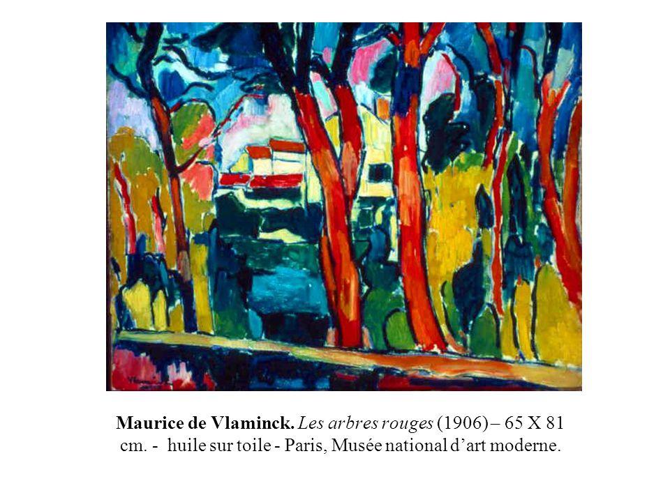 Maurice de Vlaminck. Les arbres rouges (1906) – 65 X 81 cm