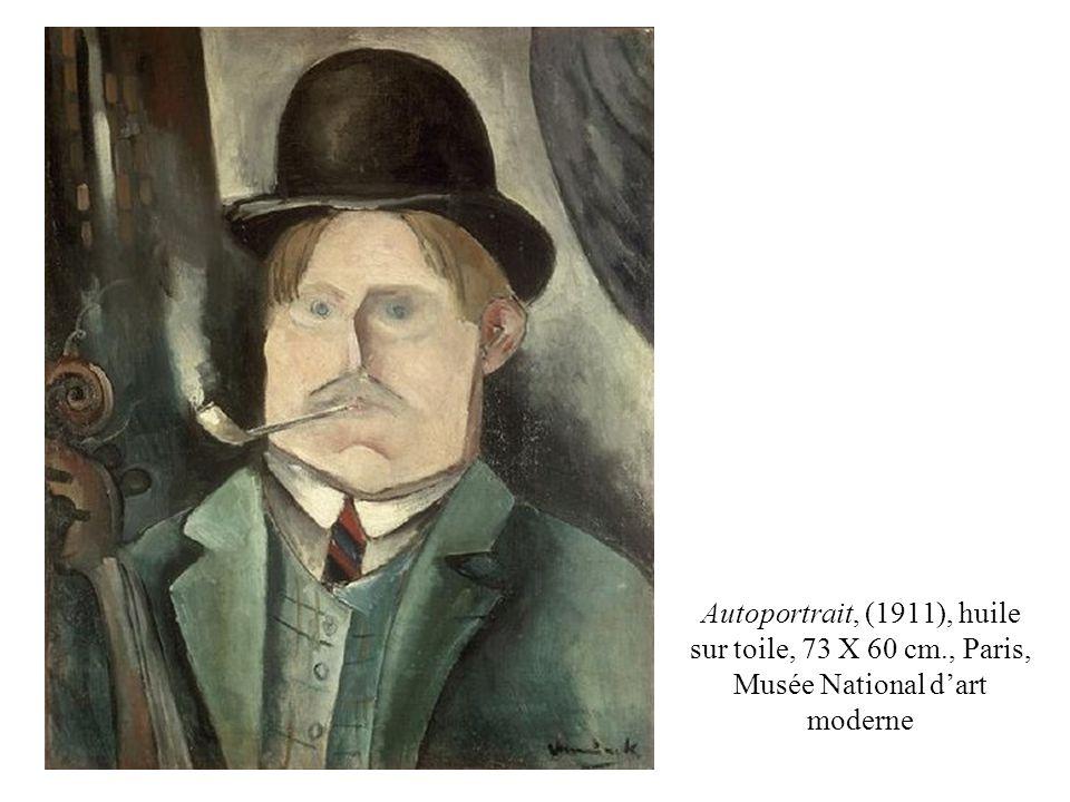 Autoportrait, (1911), huile sur toile, 73 X 60 cm