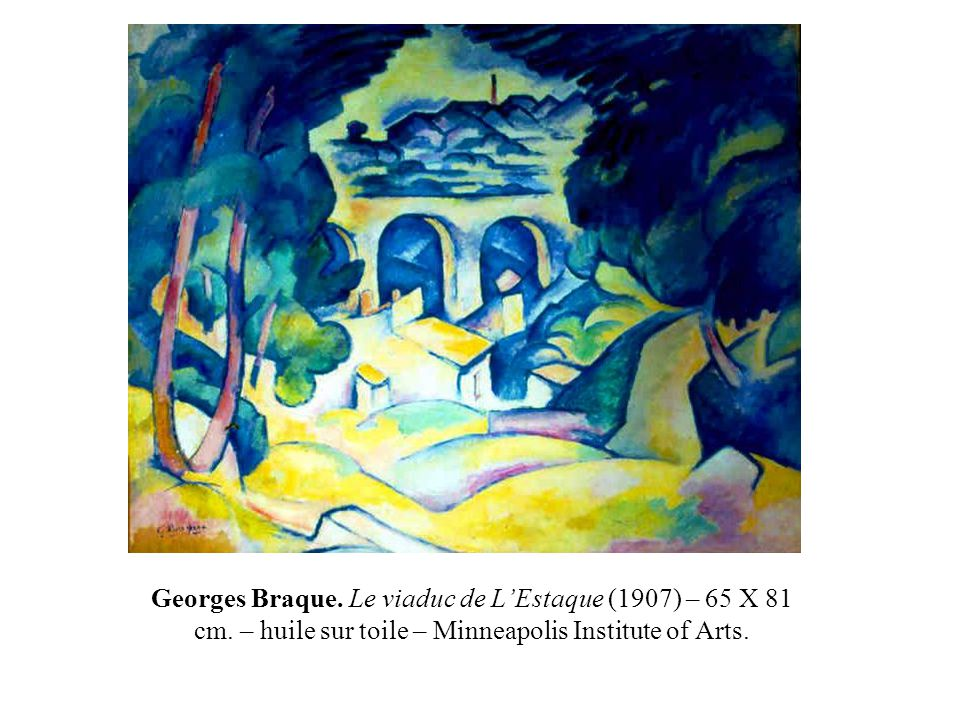 Georges Braque. Le viaduc de L'Estaque (1907) – 65 X 81 cm