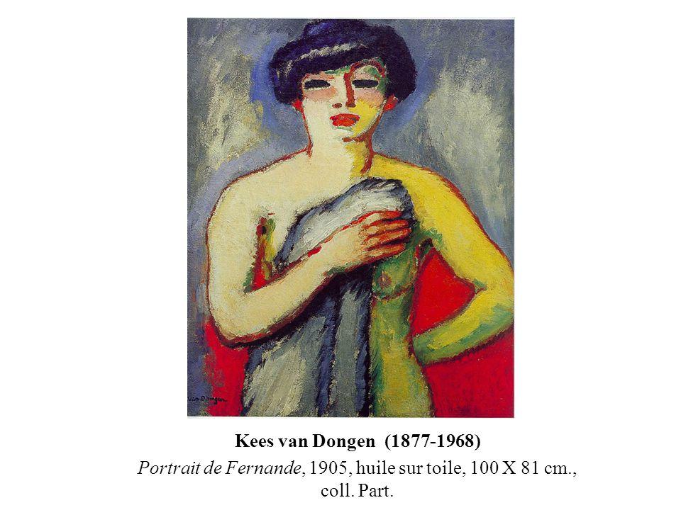 Portrait de Fernande, 1905, huile sur toile, 100 X 81 cm., coll. Part.