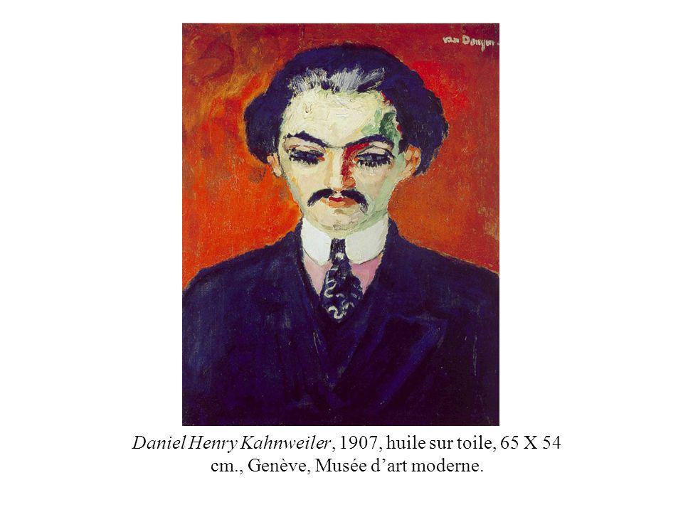 Daniel Henry Kahnweiler, 1907, huile sur toile, 65 X 54 cm