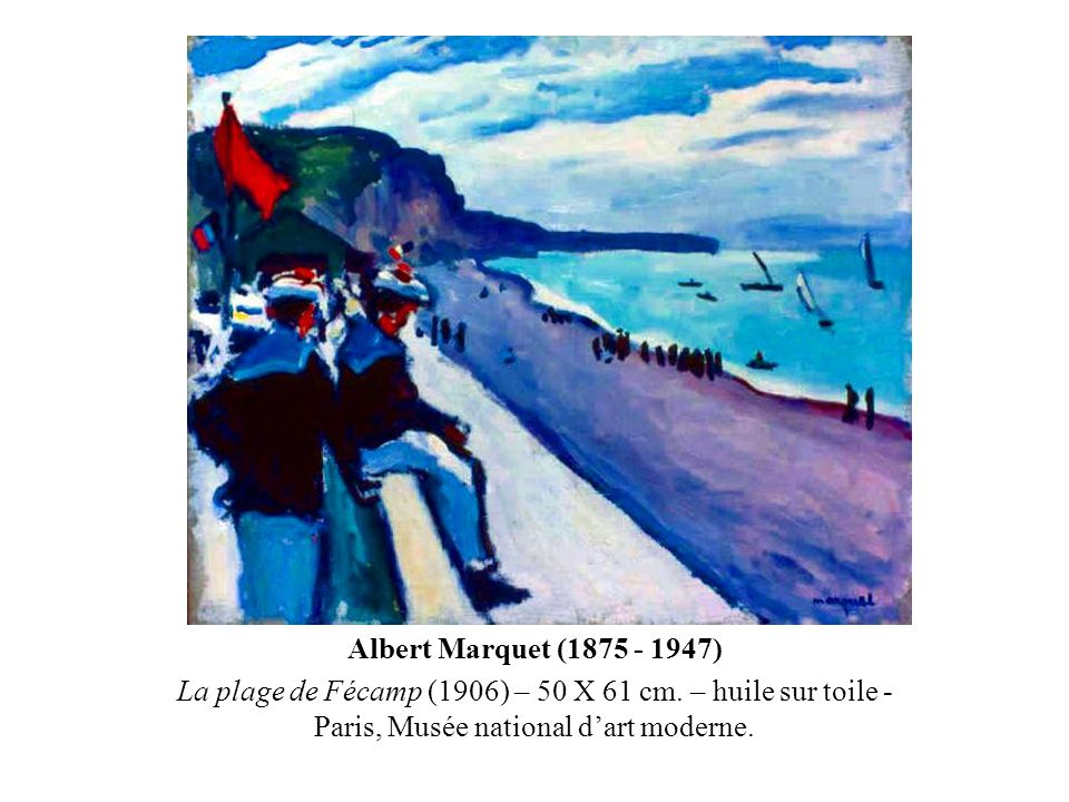 Albert Marquet (1875 - 1947) La plage de Fécamp (1906) – 50 X 61 cm.