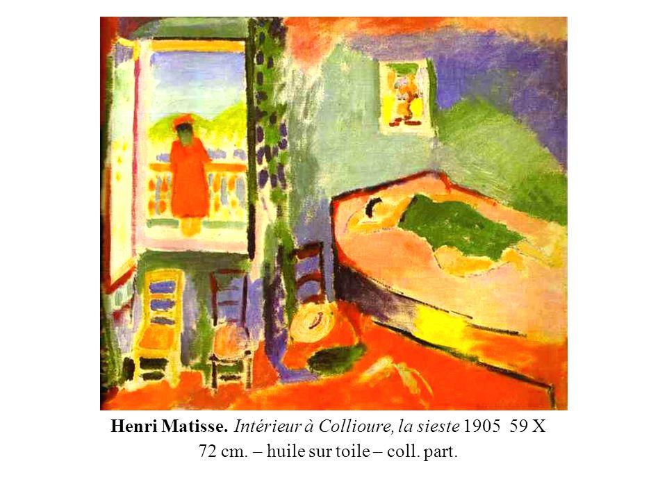 Henri Matisse. Intérieur à Collioure, la sieste 1905 59 X 72 cm