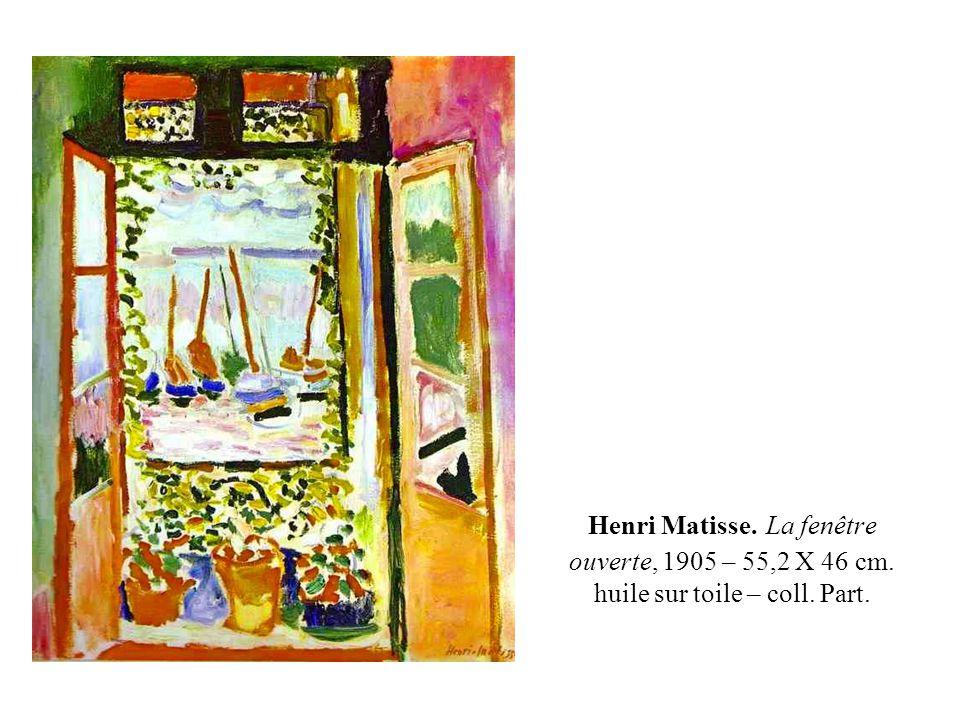 Henri Matisse. La fenêtre ouverte, 1905 – 55,2 X 46 cm