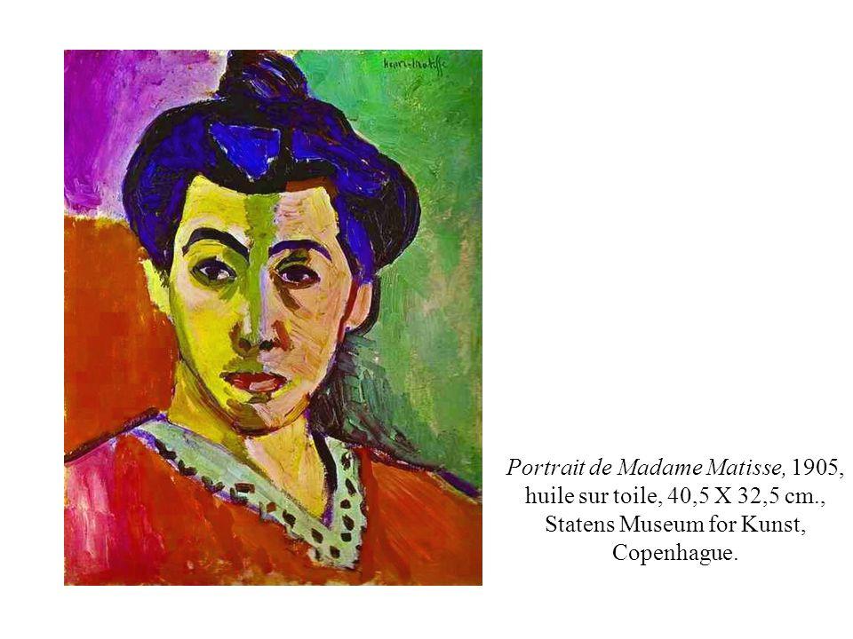 Portrait de Madame Matisse, 1905, huile sur toile, 40,5 X 32,5 cm