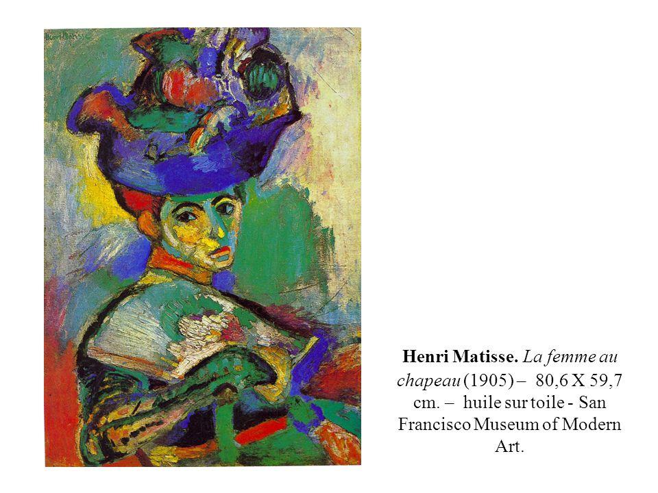 Henri Matisse. La femme au chapeau (1905) – 80,6 X 59,7 cm