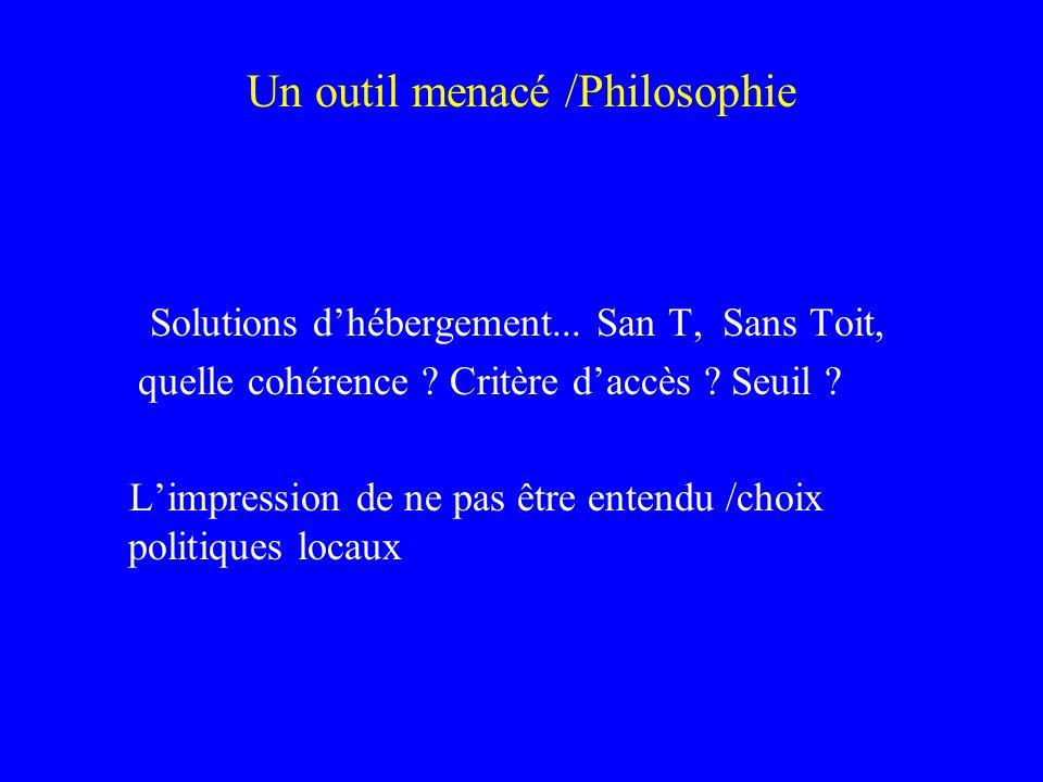 Un outil menacé /Philosophie