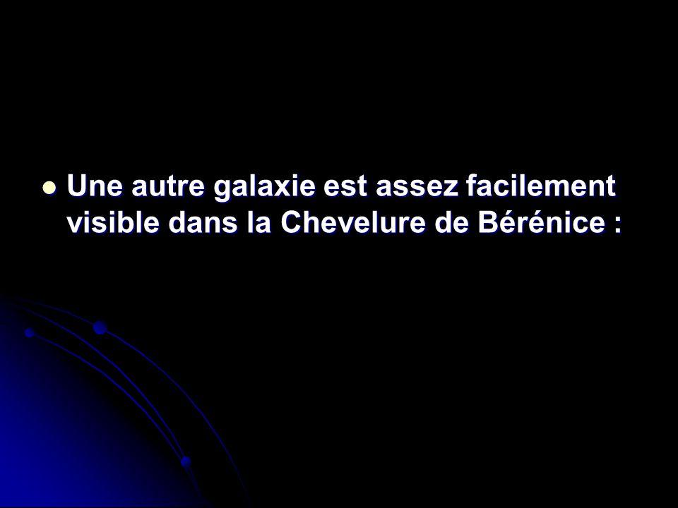 Une autre galaxie est assez facilement visible dans la Chevelure de Bérénice :