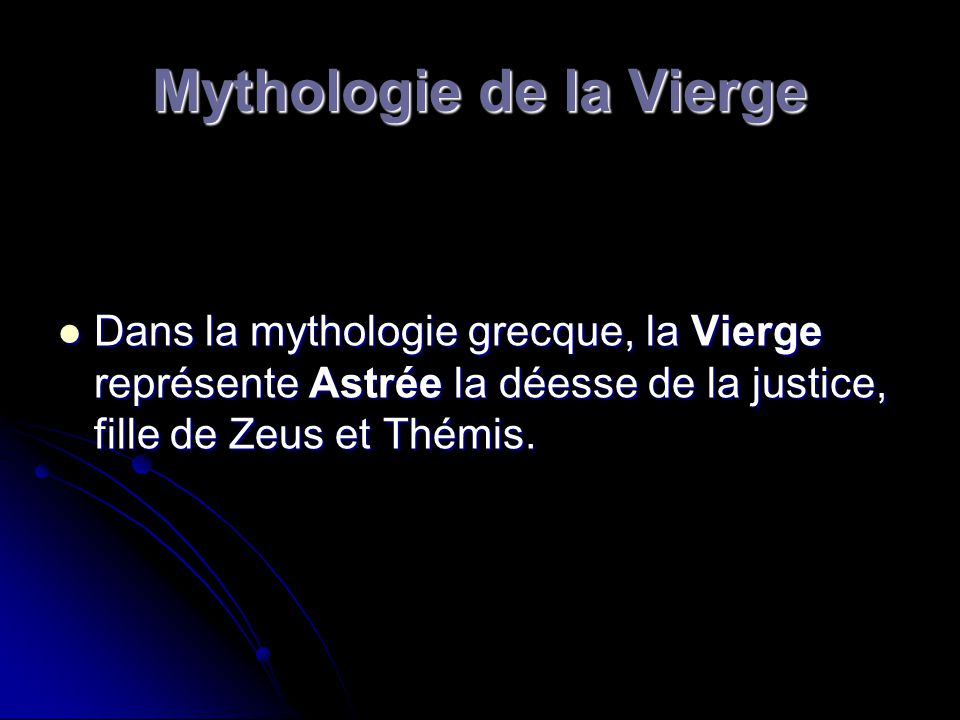 Mythologie de la Vierge