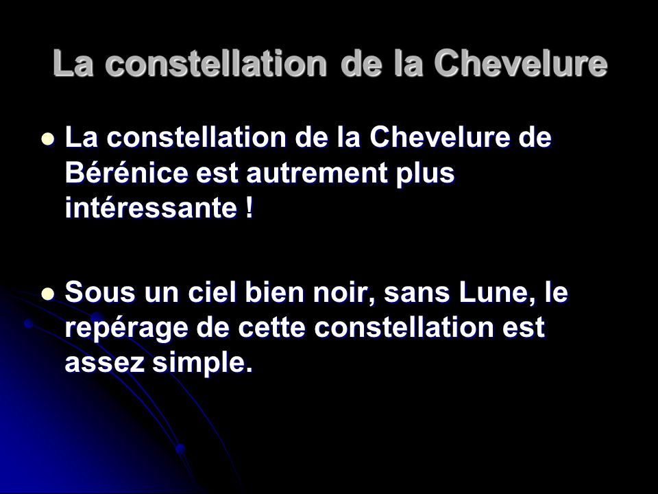 La constellation de la Chevelure