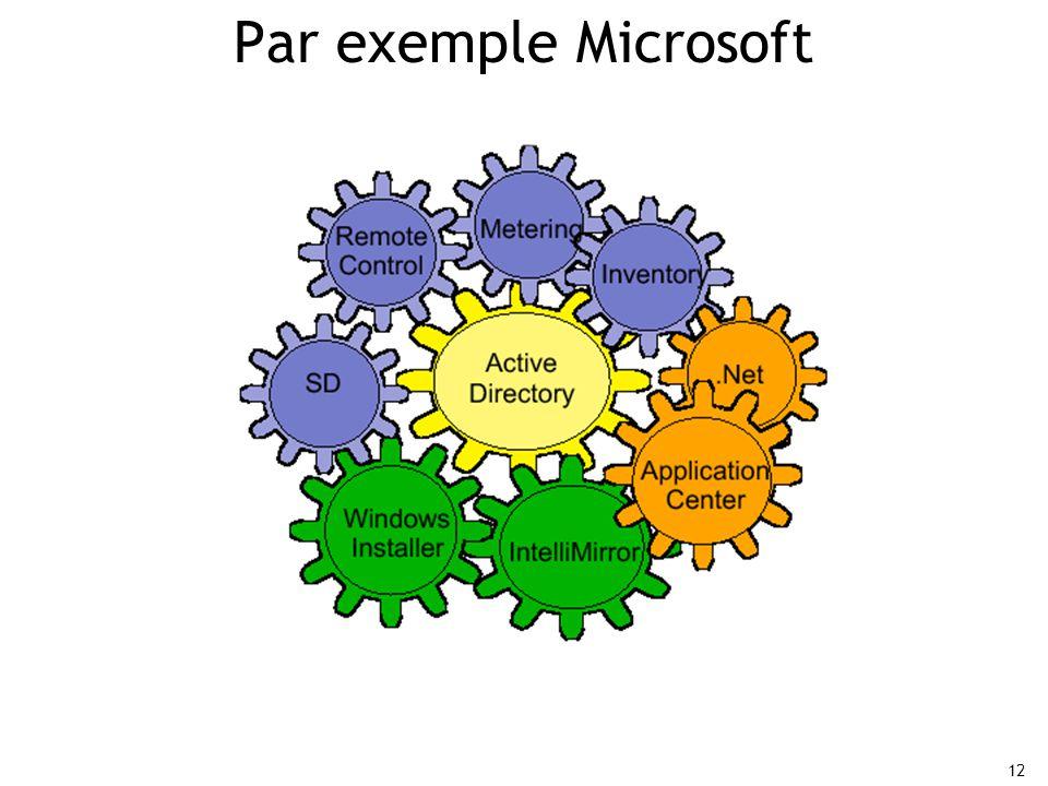 Par exemple Microsoft