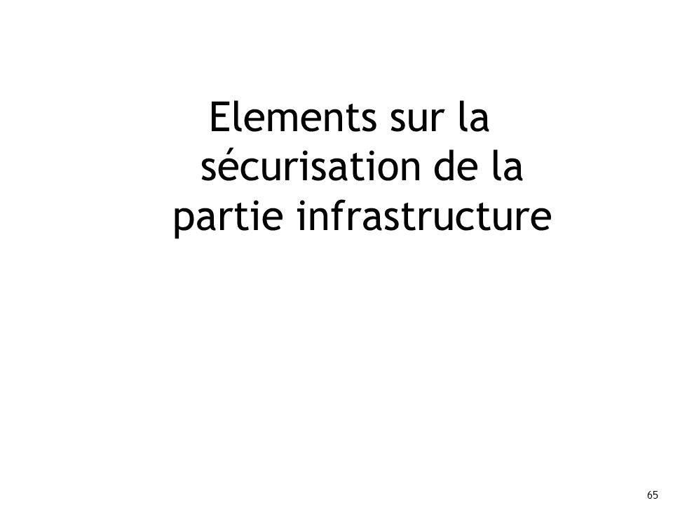 Elements sur la sécurisation de la partie infrastructure