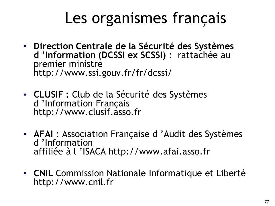 Les organismes français