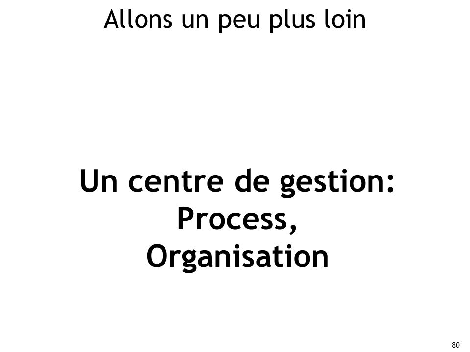 Un centre de gestion: Process,