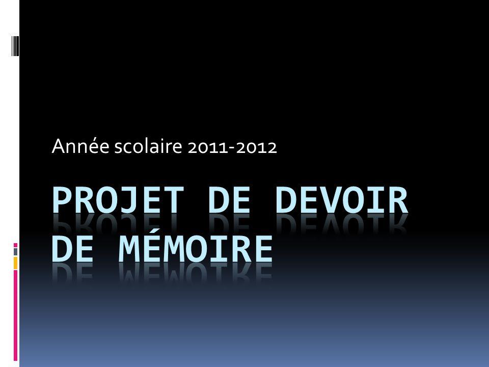 Projet de devoir de mémoire