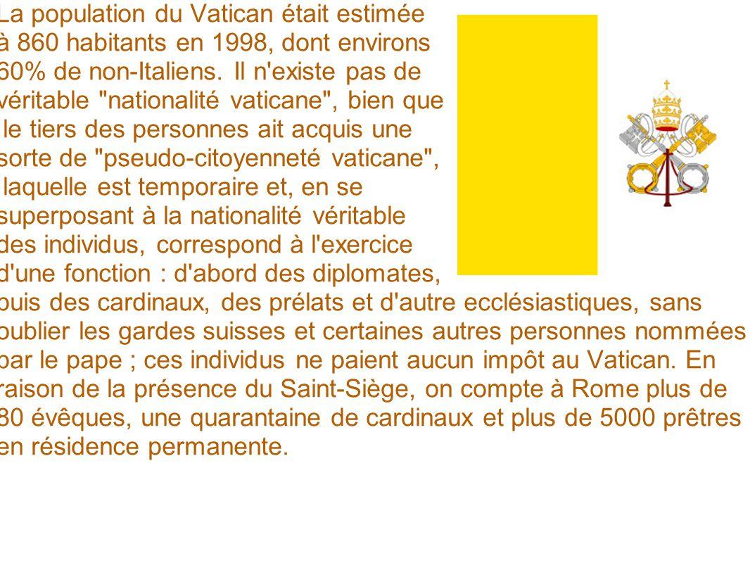 La population du Vatican était estimée