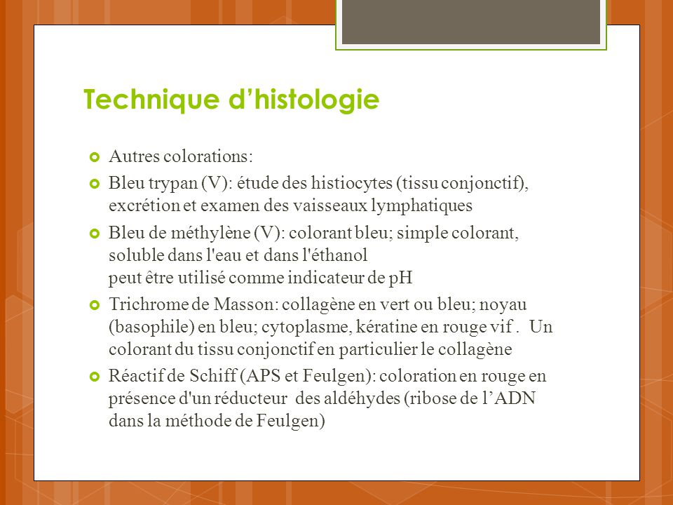 Technique d'histologie
