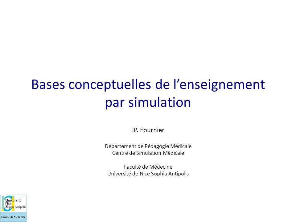 Bases conceptuelles de l'enseignement par simulation
