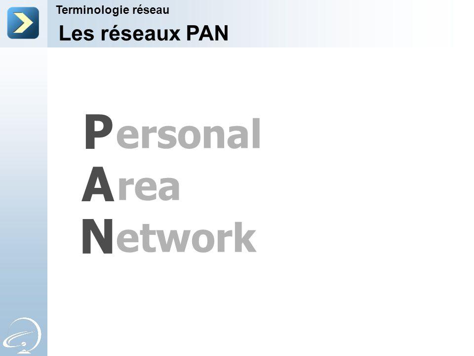 P A N ersonal rea etwork Les réseaux PAN Terminologie réseau 7-Apr-17