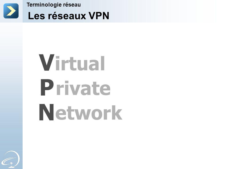 V P N irtual rivate etwork Les réseaux VPN Terminologie réseau