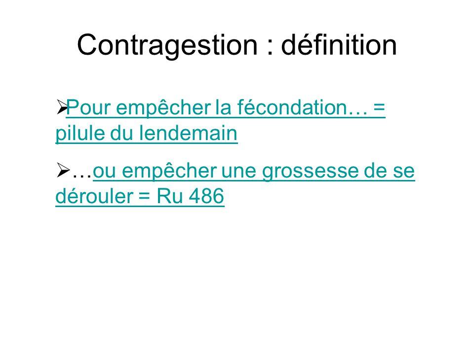 Contragestion : définition