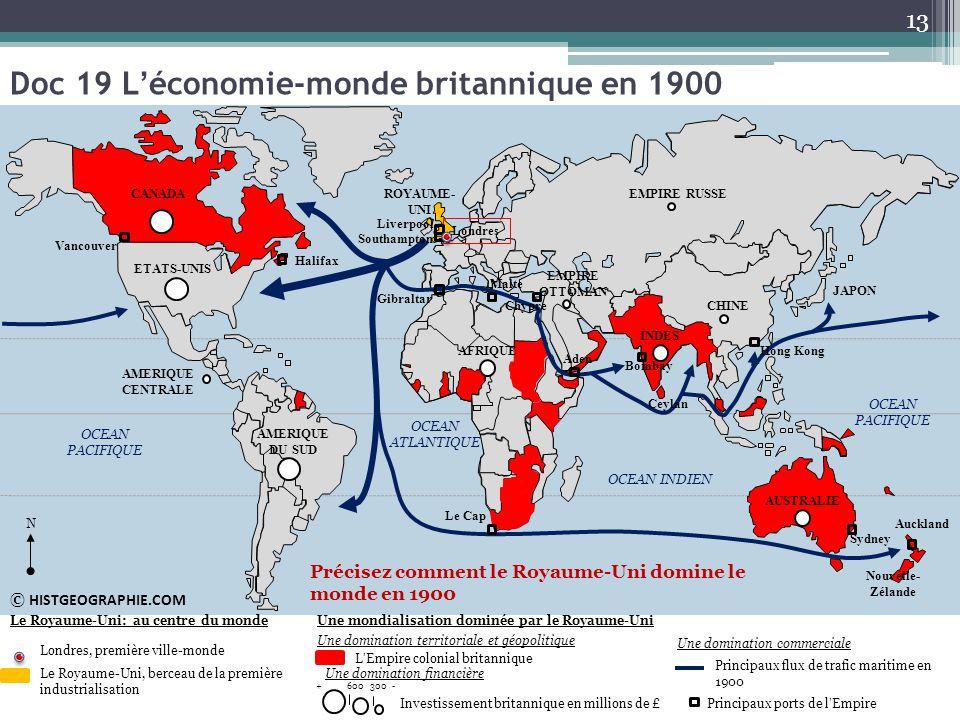 Doc 19 L'économie-monde britannique en 1900